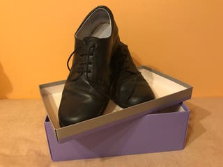 Zapatos niño piel t-40 marino