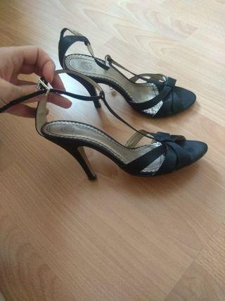 Sandalias de tacón negras T36
