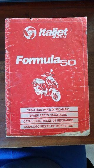Italjet Formula 50 Catalogo partes de Recambio