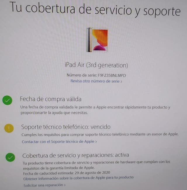 iPad Air (3era generacion)