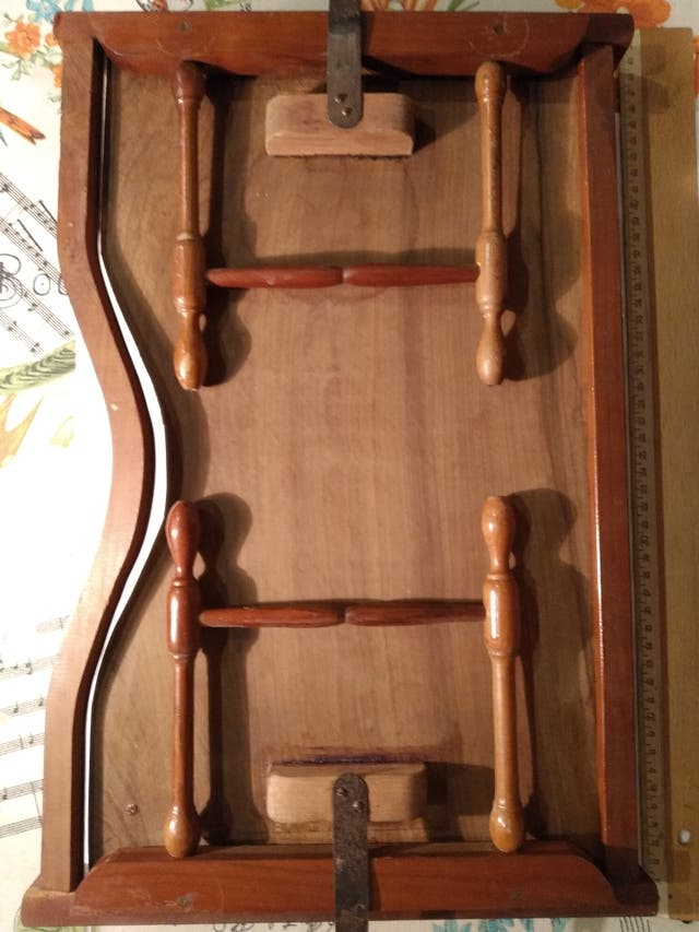Bandeja mesita plegable madera para cama antigua