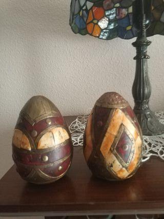 Dos huevos decoración