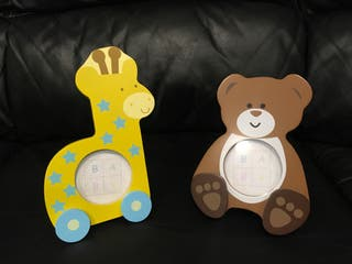 Portafotos infantiles de madera