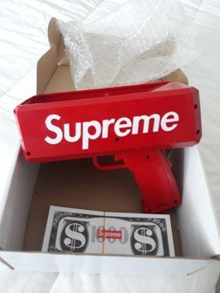 pistola lanza billetes SUPREME