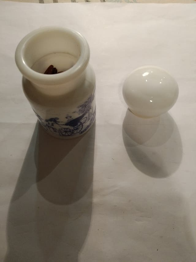 Frascos botes de opalina para especias BELGIUM