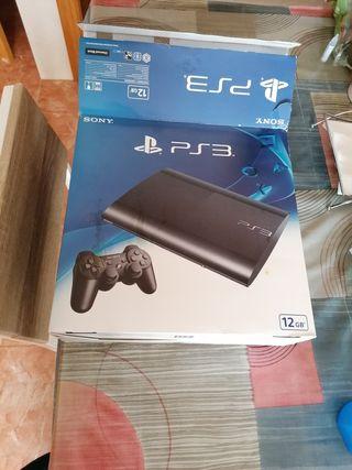 play 3, 500gb con caja, 2 mandos, 4 juegos