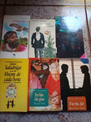 Vendo o cambio.Lote novelas catalán y castellano.
