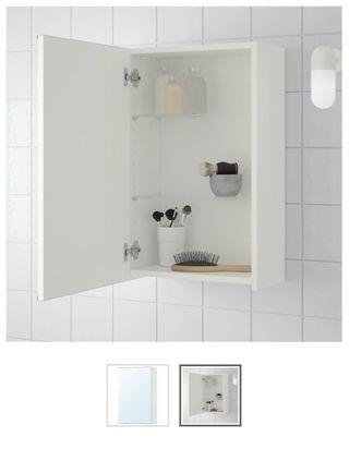 Armario baño con puerta espejo