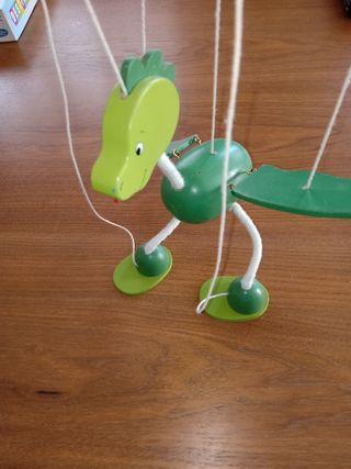 juego madera marioneta dragón
