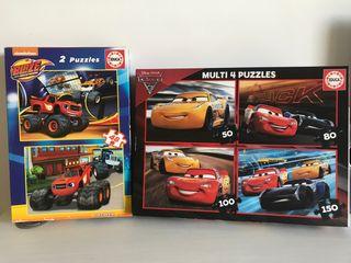 Puzzles de Cars y Blaze