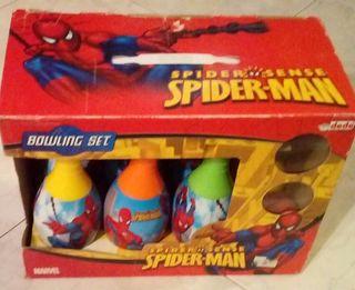 juego de bolos spidermen en buen estado
