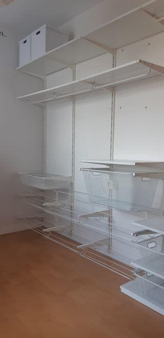 vestidor de Ikea para ordenar ropa sistema algot