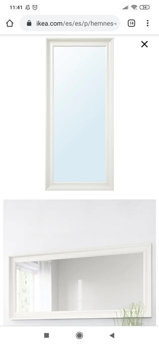 Espejo Hemnes Ikea blanco