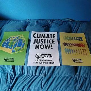 Cartel original cumbre de Clima COP25 Madrid 2019.