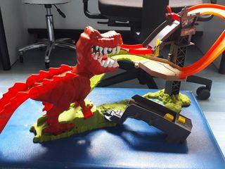 pista t-rex hotwheels