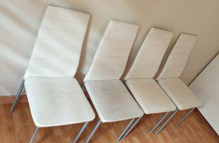 Juego de 4 sillas comedor