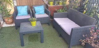 muebles jardín sofá butaca y mesa