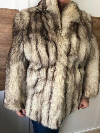 Abrigo piel zorro blanco