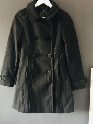 Abrigo paño negro H&M