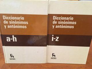 Diccionario sinónimos y antonimos