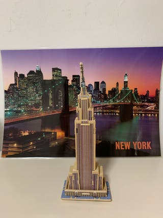 Empire State new York maqueta madera