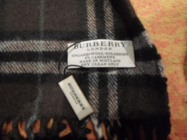 bufanda burberry london lana merino