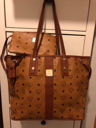 Bolso marrón monograma maxi bolsa