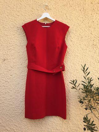 Mango Vestido rojo elegante Talla M nuevo