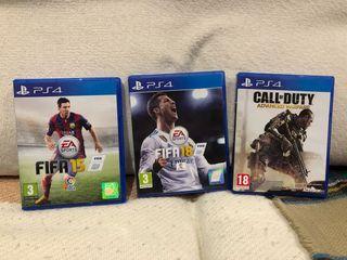 Pack tres juegos PlayStation4
