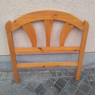 Cabecero madera pino vintage años 70 cama 80/90 cm
