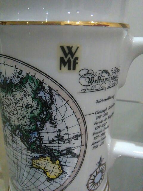 Jarra de cerveza WMF de 500ml. con tapa, sin uso.