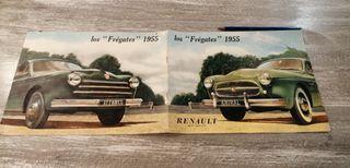 Amiral y Affaires Folleto 1955 Renault