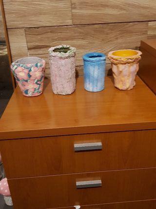 lote de floreros o jarrones decorativos