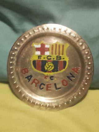 plato de bronce F.C.B