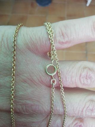 cadena de eslabones, oro bajo de 9 kl