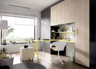 Habitación con cama abatible vertical