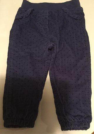 Pantalon bebe niña de pana,talla 9 a 12 meses