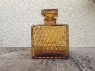 Botella vidrio naranja vintage