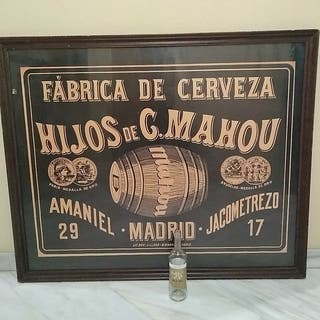 Cuadro gigante CERVEZA MAHOU vintage