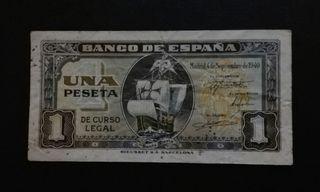 1 peseta 1940 (Santa María)