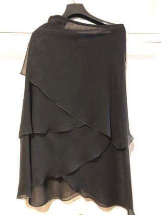 Falda fiesta negra de gasa