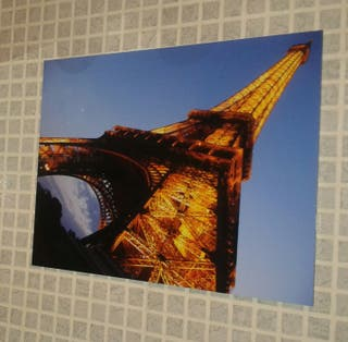 Cuadro de la Torre Eiffel en aluminio