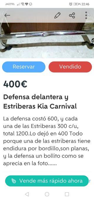 Defensa delantera y estriberas Kia Carnival