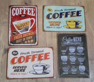 Carteles de decoración Café.
