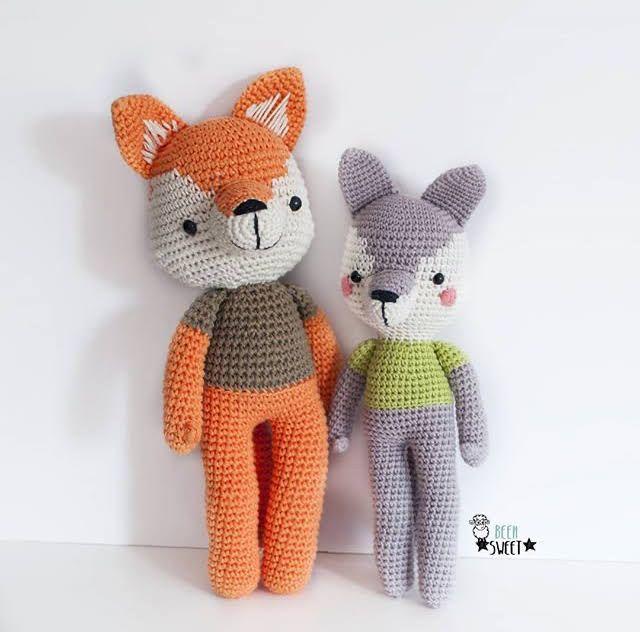 Llavero tejido: Cabeza de zorro (Amigurumi, Crochet) – Bazarama | 632x640