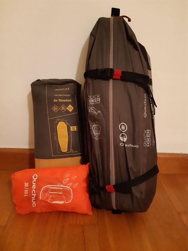 Kit de montaña - tienda campaña + colchón trekking