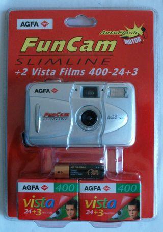 Agfa FunCam Cámara 35mm + 2 carretes 27 fotos