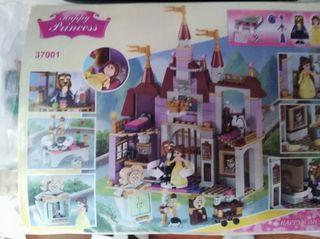 Castillo La Bella y la Bestia estilo Lego NUEVO