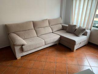 Sofá chaise longue seminuevo