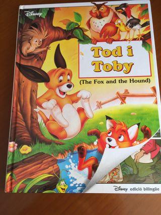 Libro Tod y Toby Disney edición bilingüe